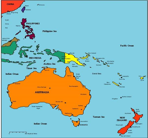 Okyanusya Ülkeleri Hangileridir